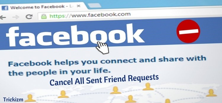 Cancel All Sent Friend Requests on Facebook