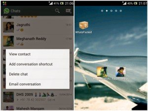 Create WhatsApp Shortcut For Frequently Used Contacts
