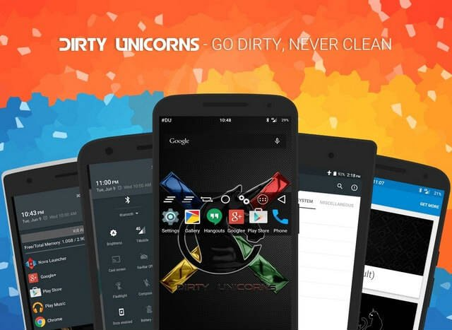 Dirty Unicorn Best Custom ROM for Android Phones