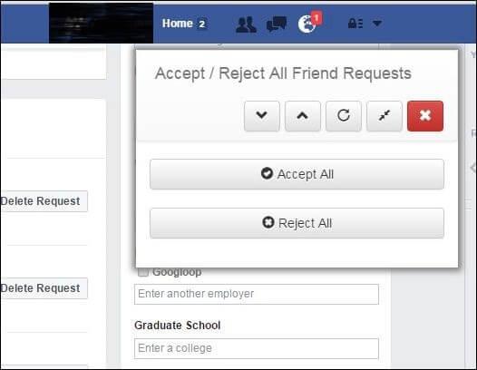 Accept pending facebook friend requests